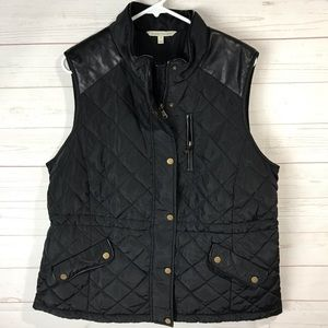 41 Hawthorn Womens Black Quilted Rayna Vest 1X